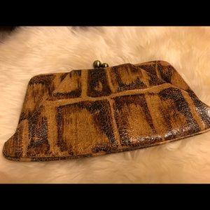 Hobo Snake Embossed Wallet Clutch 🐍